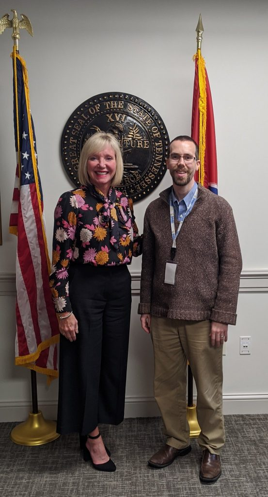 I met with my state representative, Esther Helton.